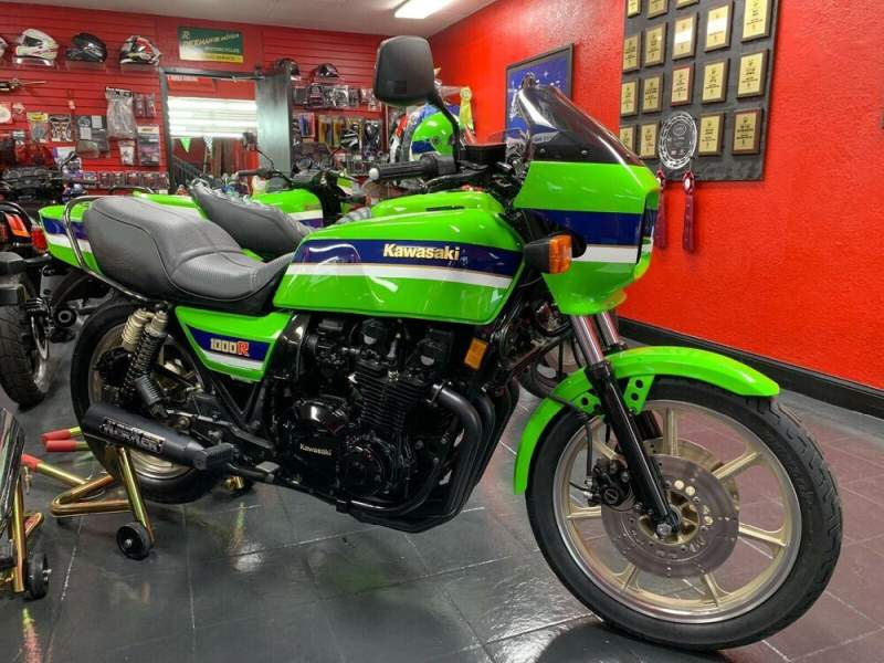 1983 Kawasaki KZ1000R EDDIE LAWSON SUPERBIKE REPLICA Green used for sale
