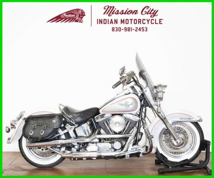 1994 Harley-Davidson FLSTN - Heritage Softail Nostalgia Cow Glide White / Silver used for sale near me