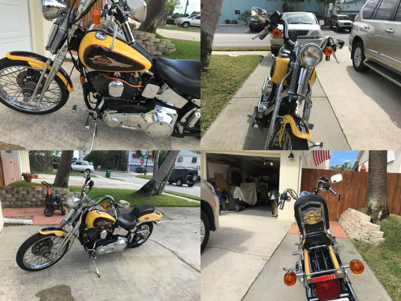 1995 Harley-Davidson Softail Yellow used for sale