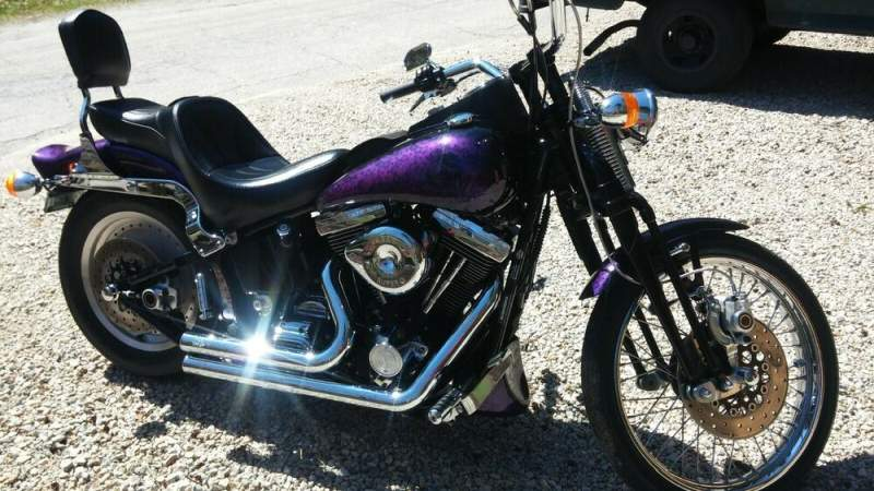 1996 Harley-Davidson Softail Black & Purple used for sale