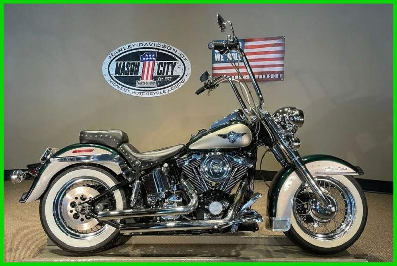 1996 Harley-Davidson Softail Heritage Softail® Nostalgia Mystique Green & Platinum Silver used for sale craigslist