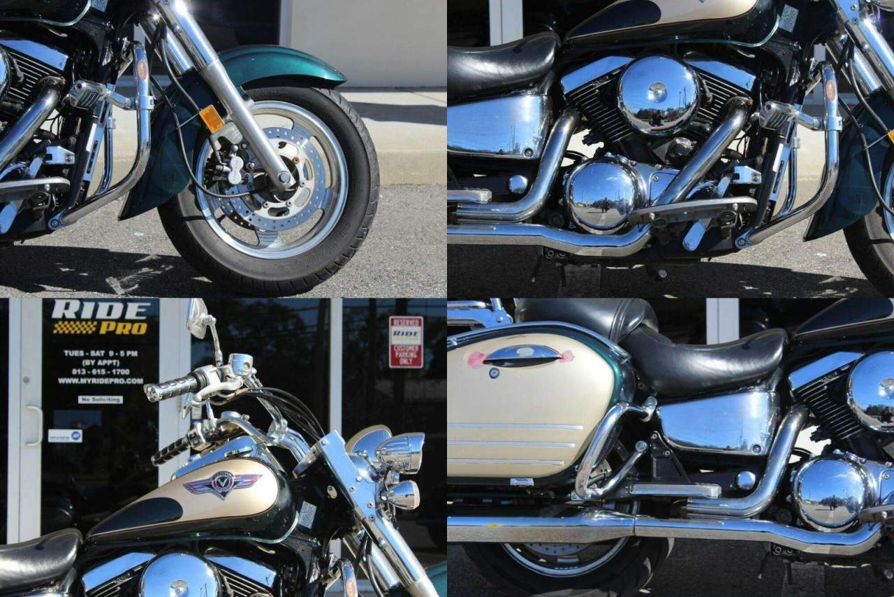 1999 Kawasaki Vulcan Classic Green used for sale