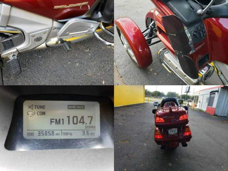 2001 Honda Gold Wing Illusion Red used for sale craigslist