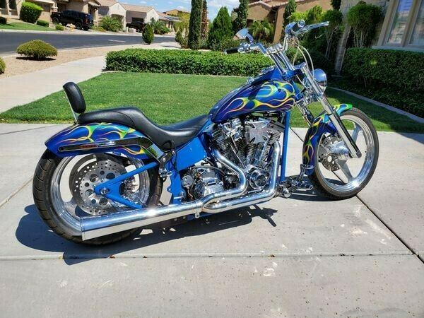 2002 Harley-Davidson Softail Blue used for sale