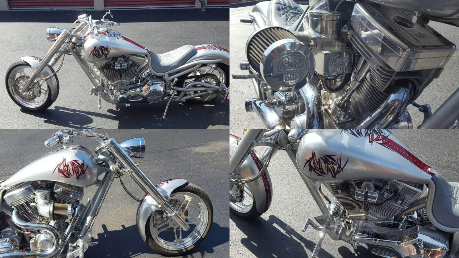 2003 Custom Built Motorcycles Low Blow Silver used for sale craigslist