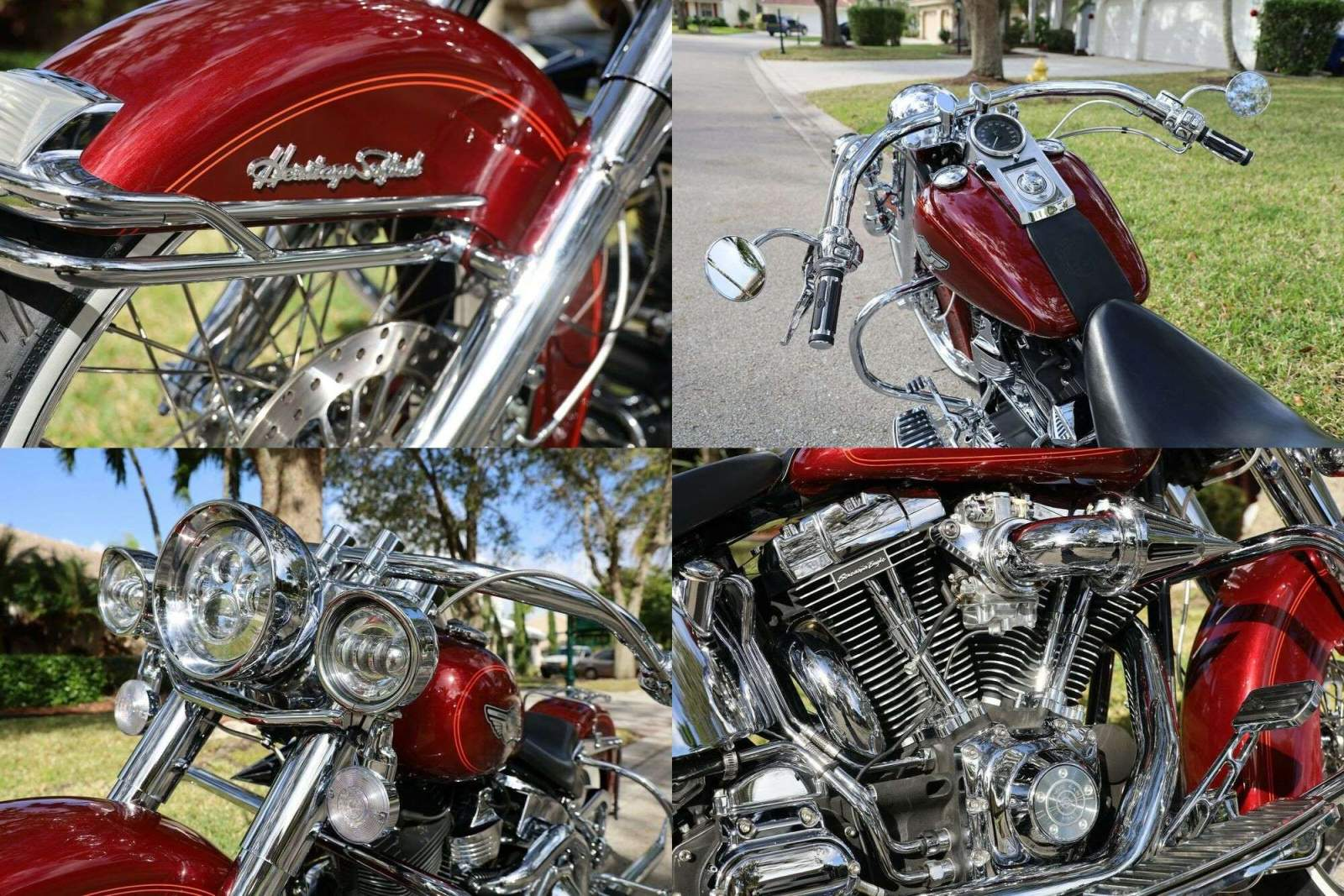 2003 Harley-Davidson Softail Red used for sale
