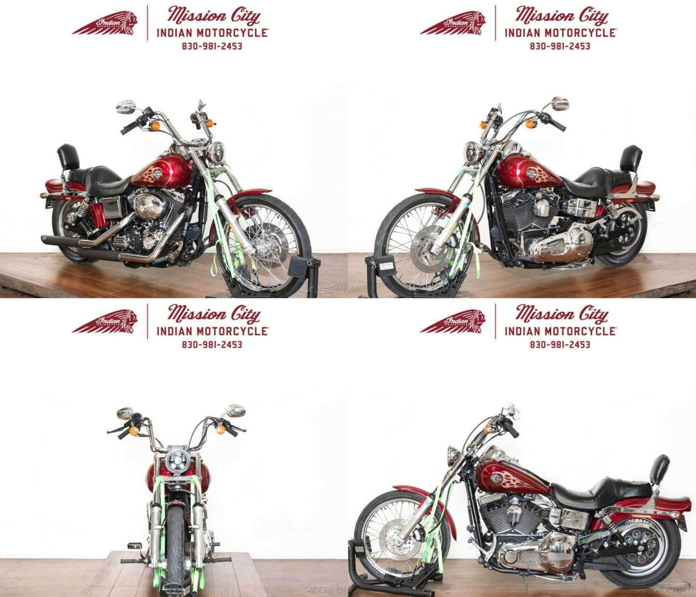 2004 Harley-Davidson Dyna FXDWGI - Wide Glide Lava Red Sunglo used for sale