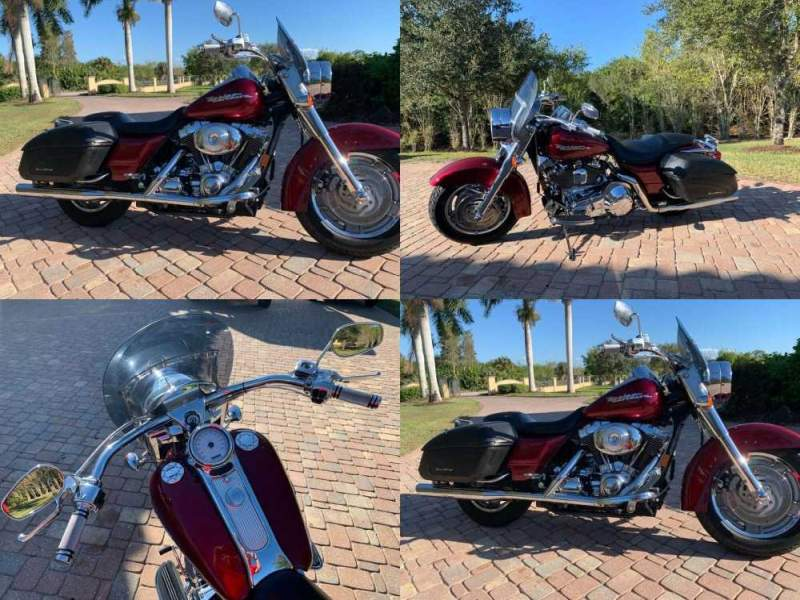 2004 Harley-Davidson Road King Lava Red Sun Glo used for sale