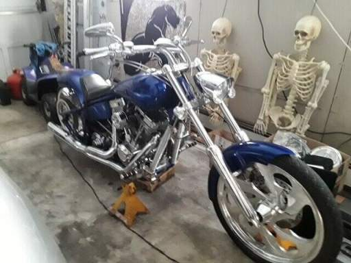 2005 American Ironhorse Outlaw Blue used for sale