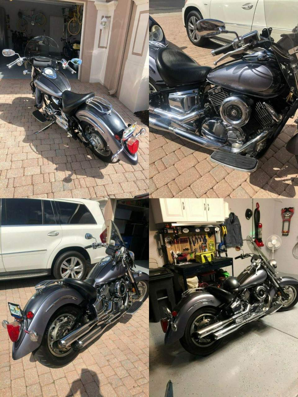 2006 Yamaha V Star 1100 Classic GRAFITE/BLUE MET used for sale