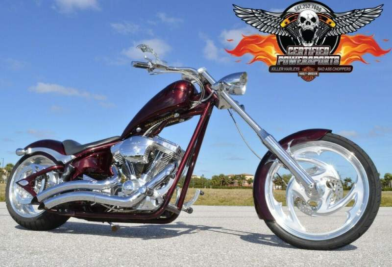 2007 Big Dog SOFTAIL CHOPPER 117ci S&S * FREE SHIPPING * Brandywine Pearl and Charcoal Ghosted Flames used for sale