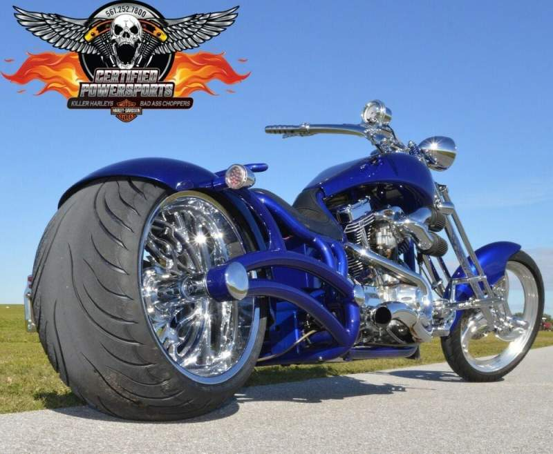 2007 Bourget FAT DADDY SPRINGER 330 LIMO SUPER STRETCH CHOPPER Cobalt Blue Pearl used for sale craigslist