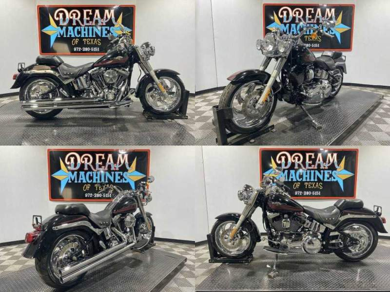 2007 Harley-Davidson FLSTF - Softail Fat Boy Black used for sale craigslist