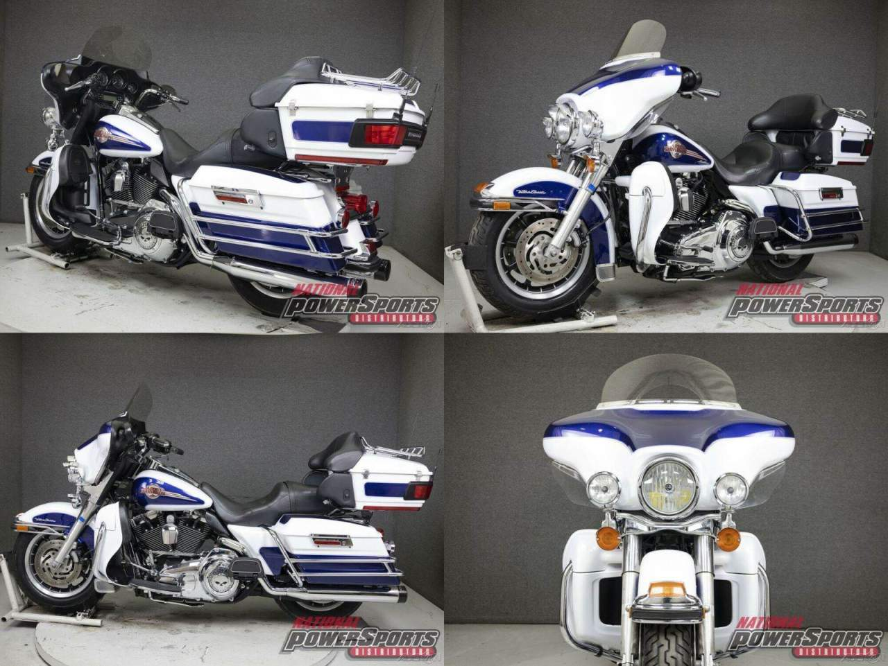2007 Harley-Davidson Touring WHITE GOLD PEARL/DEEP COBALT PEARL used for sale