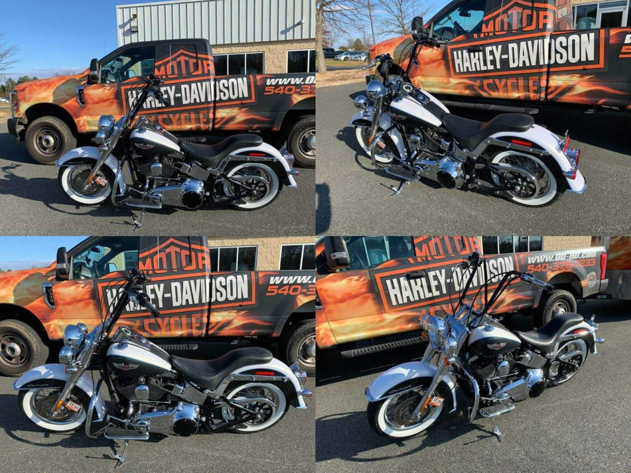 2008 Harley-Davidson Softail Deluxe White Gold Pearl / Black Pearl used for sale