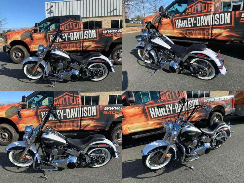 2008 Harley-Davidson Softail Deluxe White Gold Pearl / Black Pearl used for sale craigslist