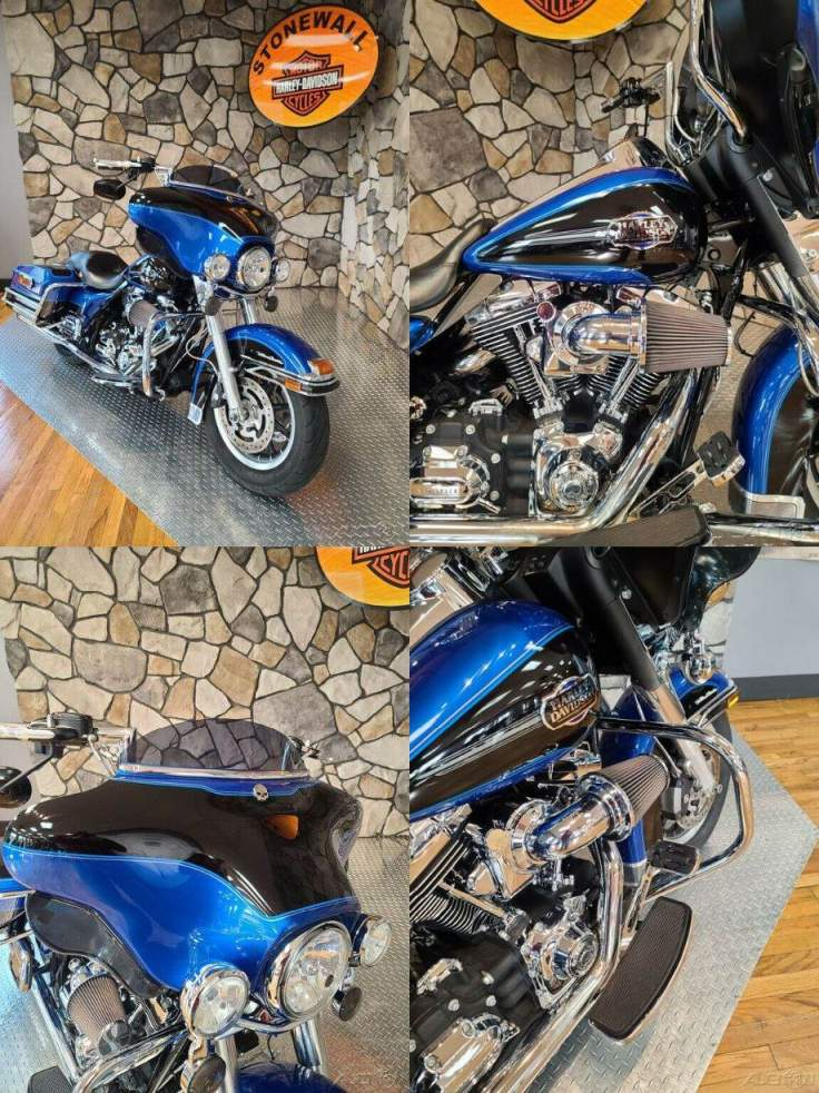 2008 Harley-Davidson Touring Ultra Classic Electra Glide Pacific Blue Pearl / Vivid Black used for sale near me