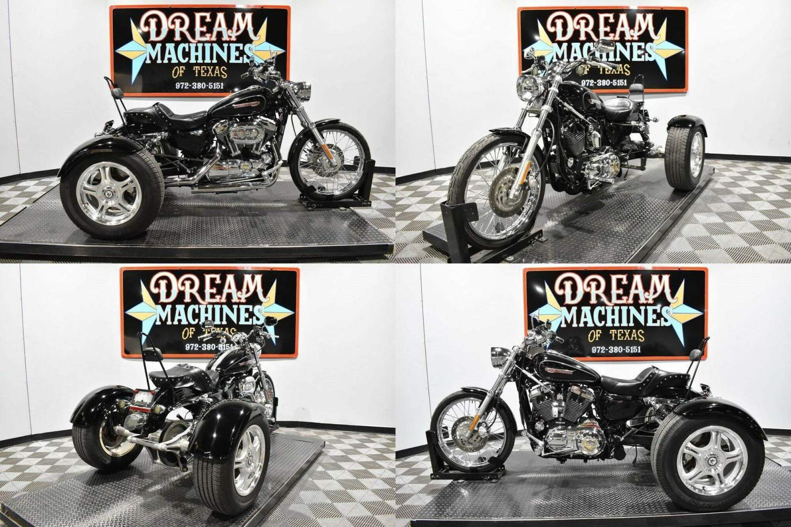 2009 Harley-Davidson XL1200C - Sportster 1200 Custom Trike Black used for sale
