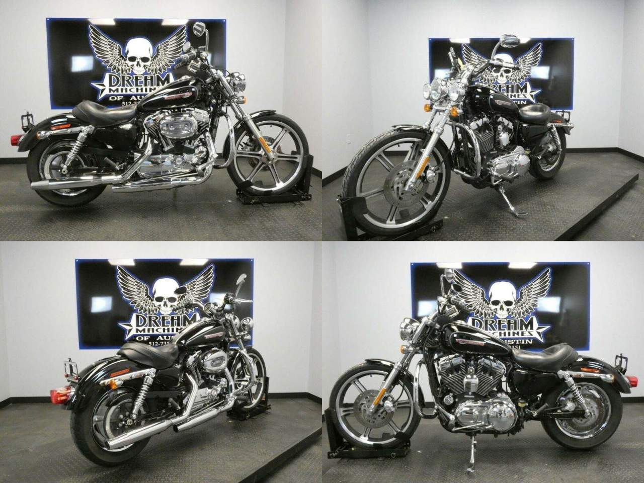 2009 Harley-Davidson XL1200C - Sportster 1200 Custom Black used for sale near me