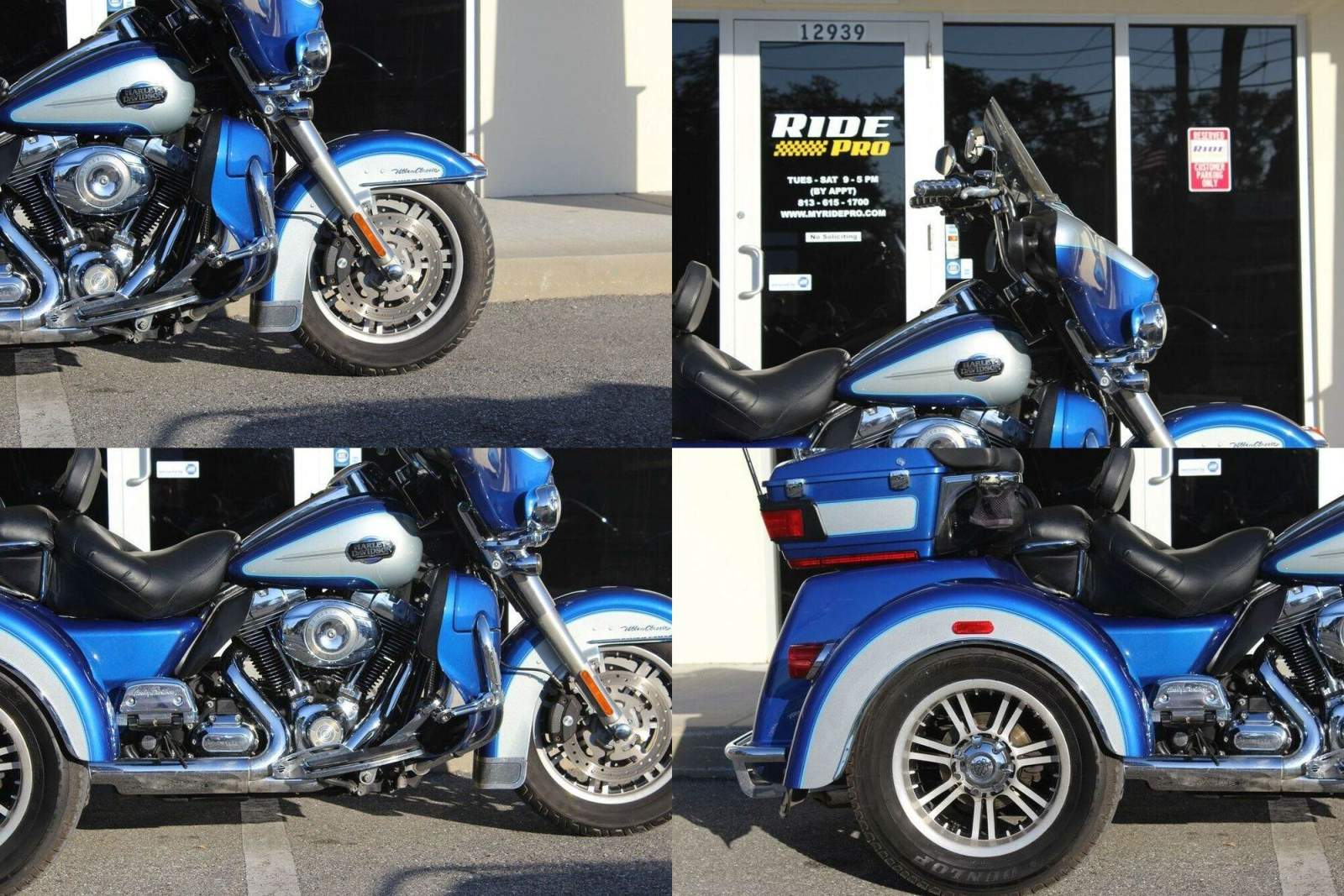 2010 Harley-Davidson Touring Tri Glide™ Ultra Classic® FLAME BLUE AND PEWTER PEARL used for sale