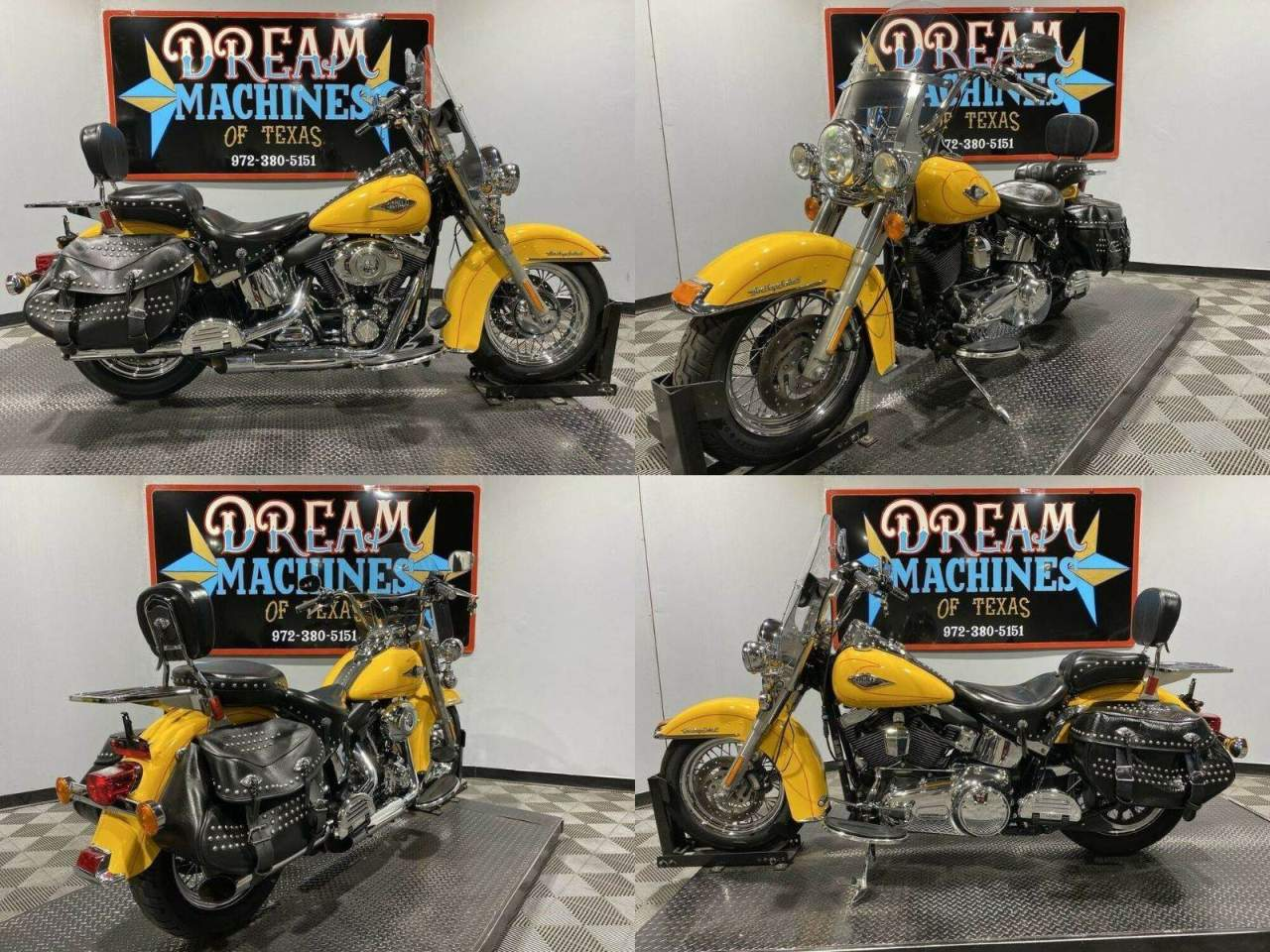 2011 Harley-Davidson FLSTC - Heritage Softail Classic Yellow used for sale