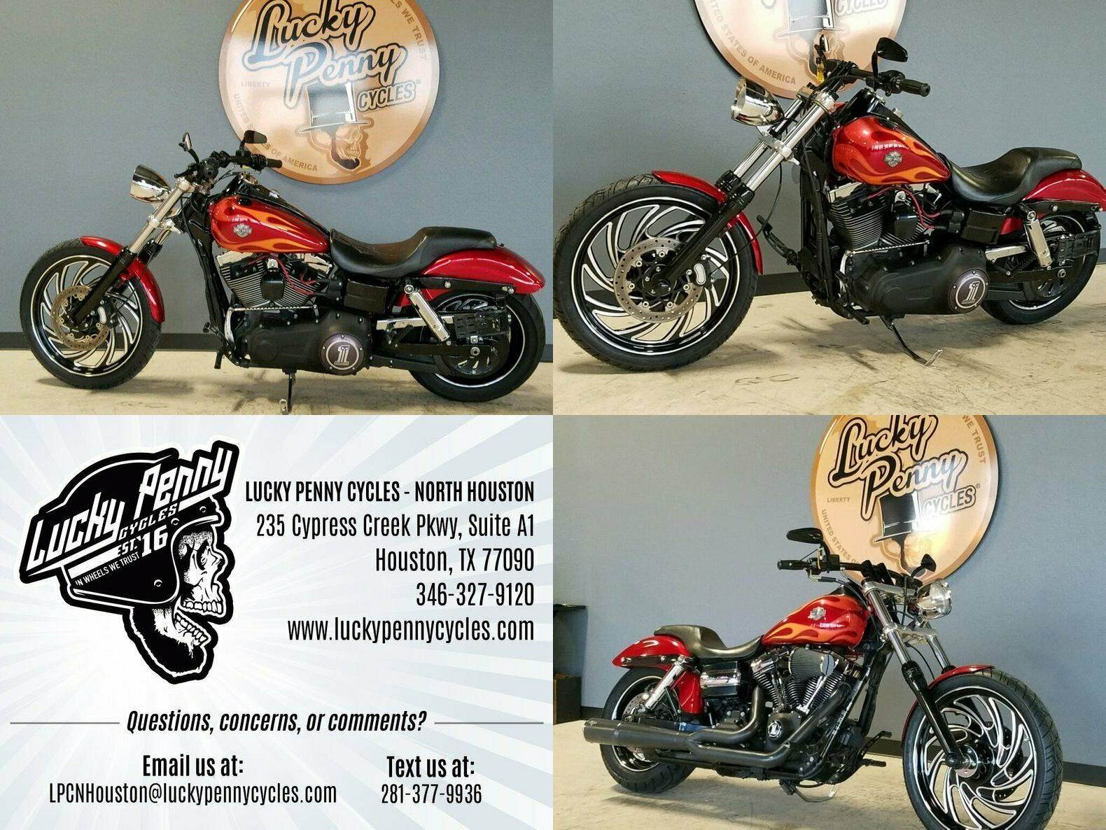 2012 Harley-Davidson Dyna Glide Wide Glide FXDWGI Red used for sale