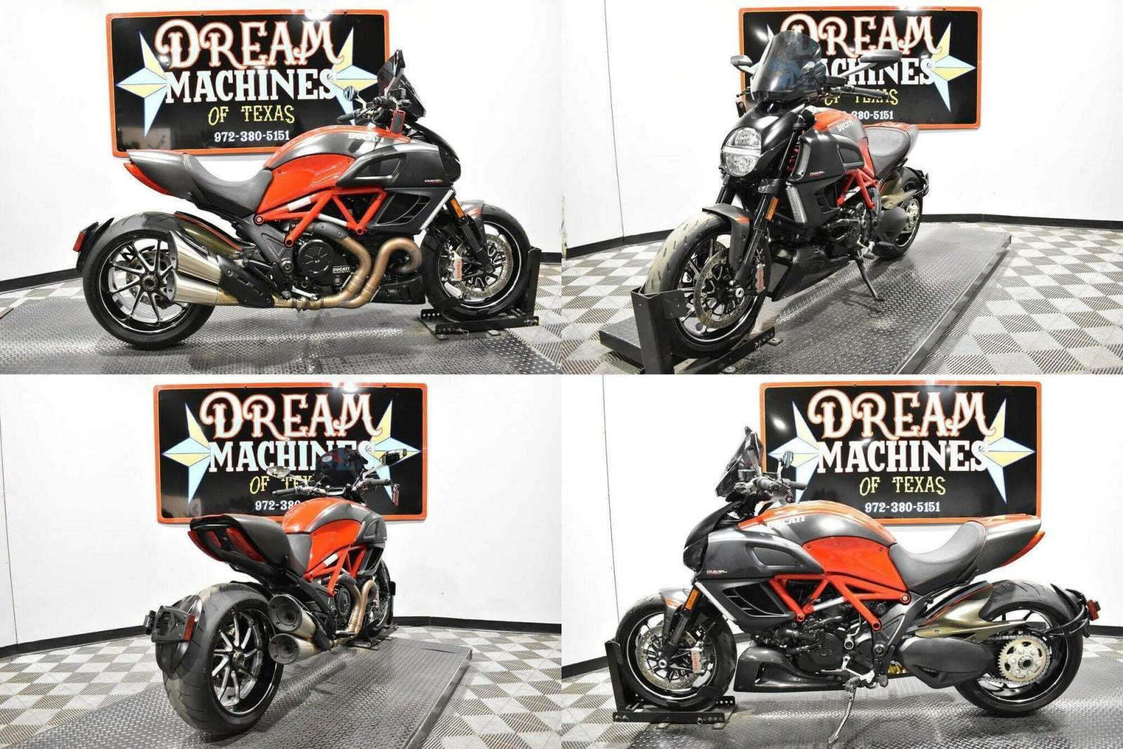 2013 Ducati Diavel Carbon Red used for sale