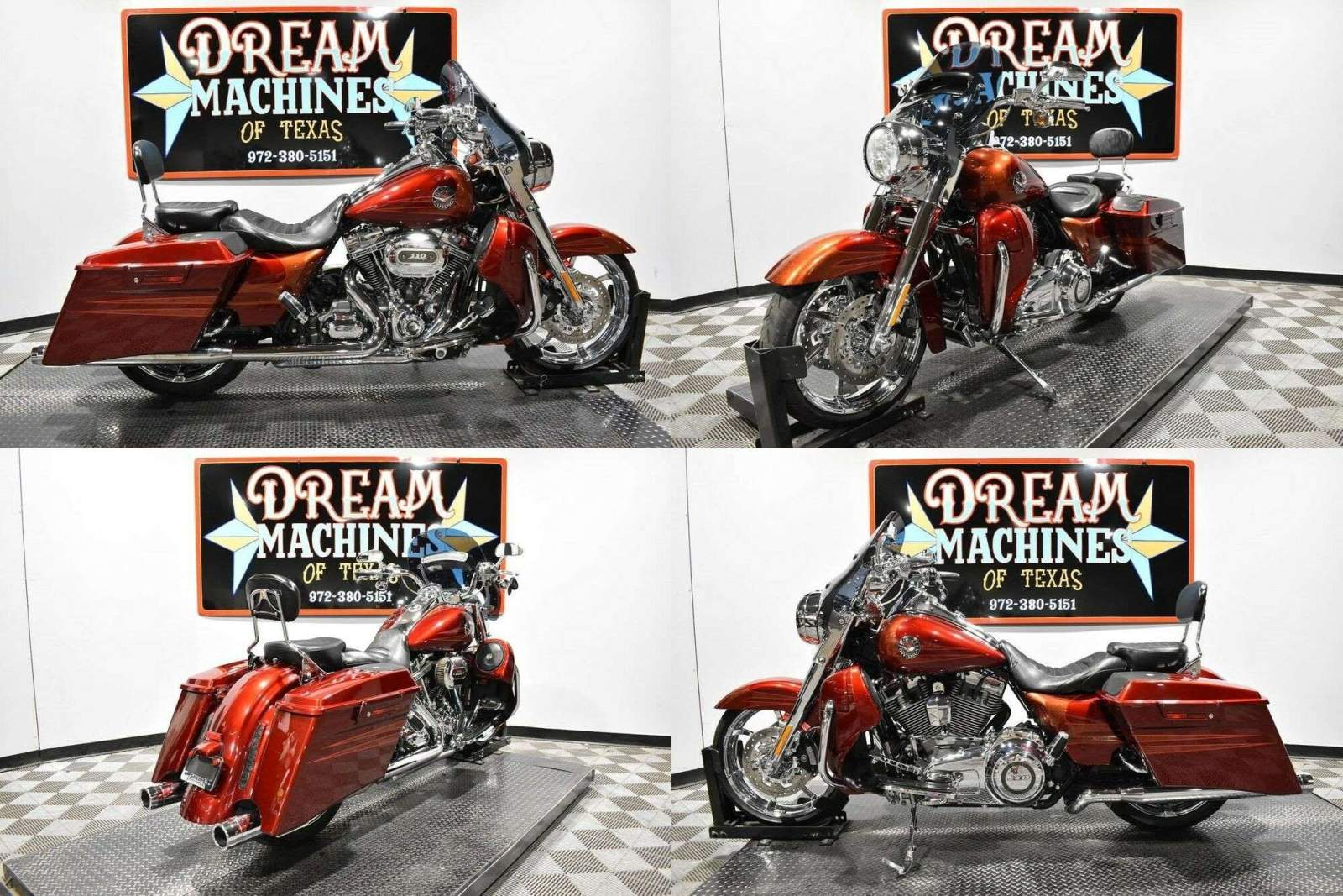 2013 Harley-Davidson FLHRSE5 - Screamin Eagle Road King CVO Burgundy used for sale near me