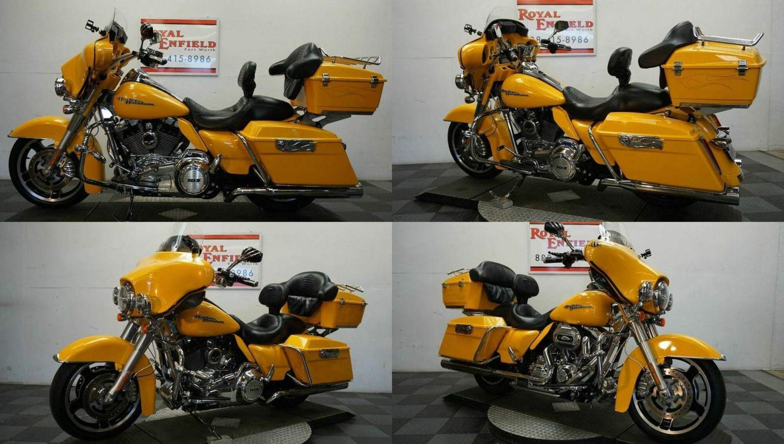 2013 Harley-Davidson Touring 1-OWNER LOADED!!! Yellow used for sale