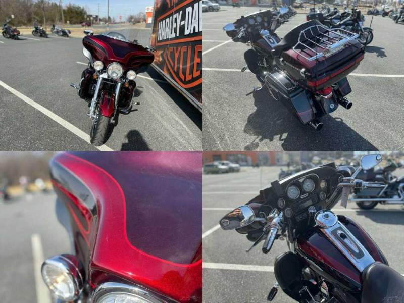 2013 Harley-Davidson Touring CVO Ultra Classic Electra Glide Typhoon Maroon / Black Diamond / Burgundy Blaze wi used for sale