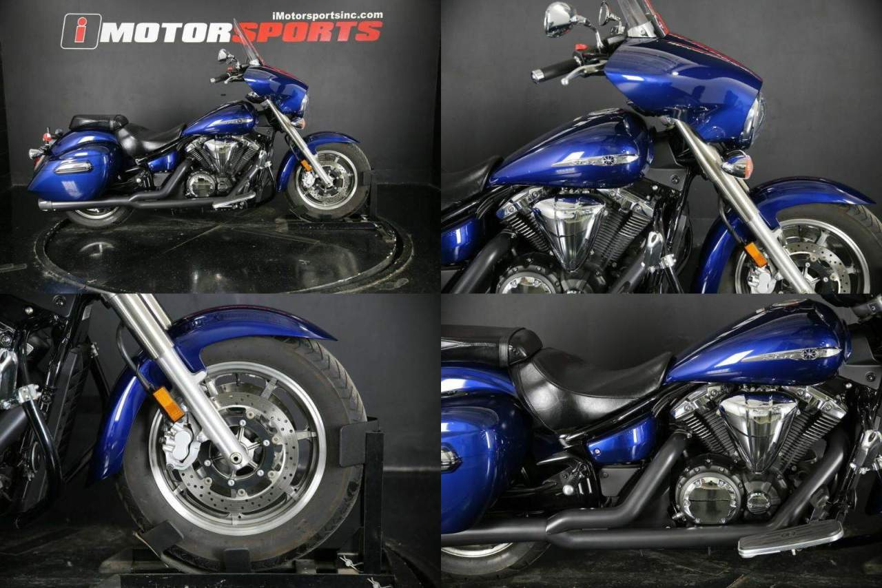 2013 Yamaha V Star 1300 Deluxe Blue used for sale