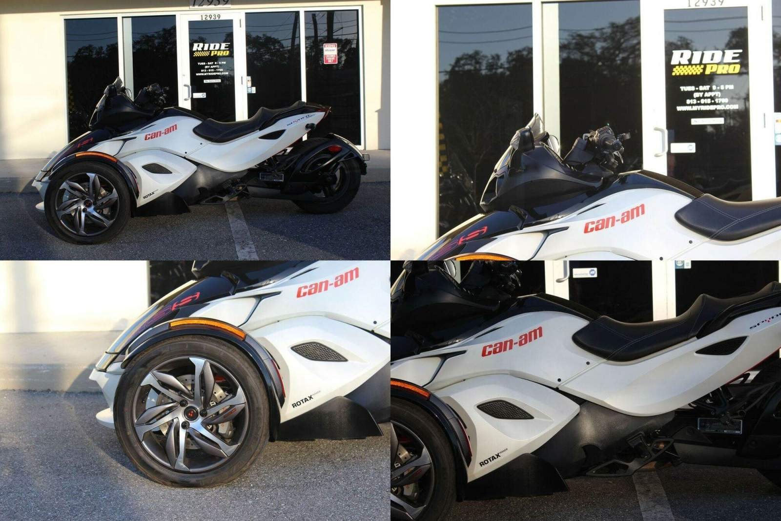 2014 Can-Am Spyder RS-S White used for sale