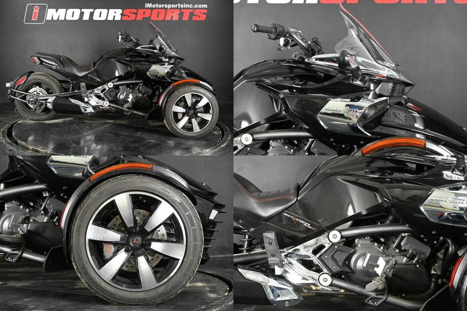 2015 Can-Am Spyder F3 S 6-Speed Semi-Automatic (SE6) Steel Bla Black used for sale craigslist