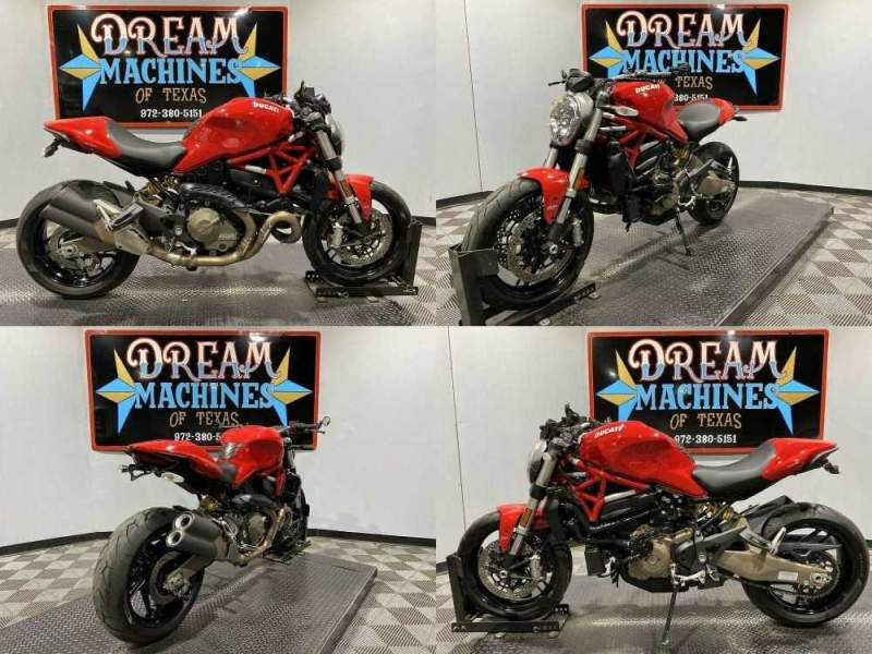 2015 Ducati Monster 821 Red used for sale craigslist