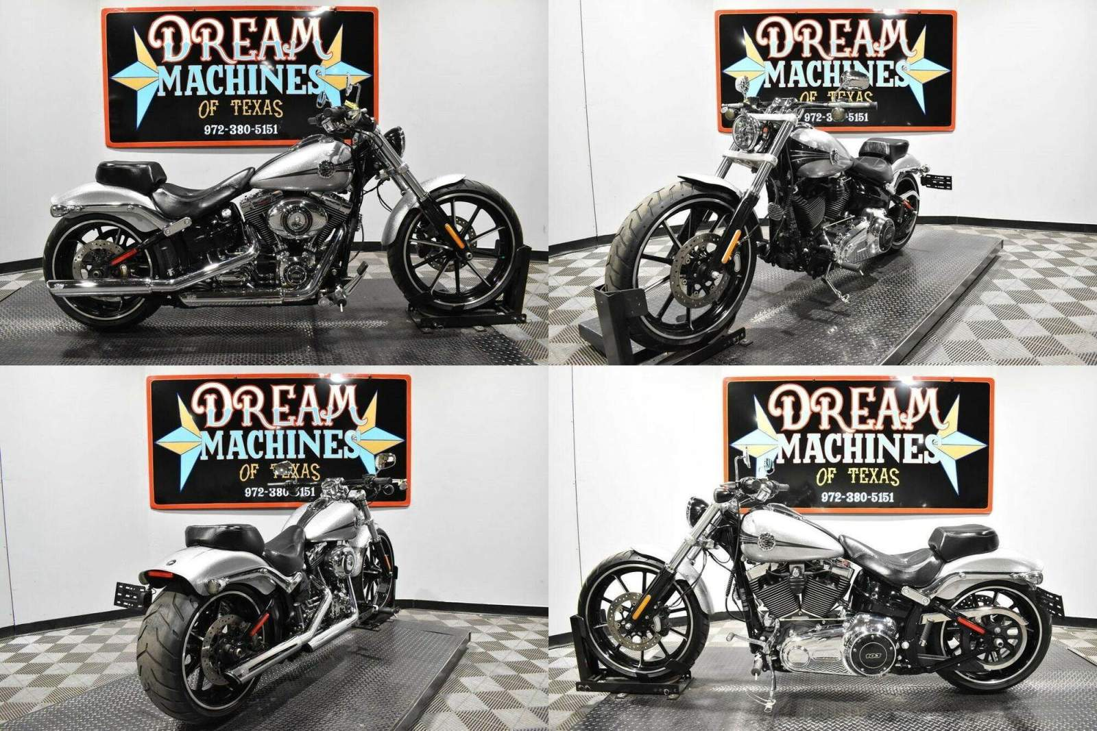 2015 Harley-Davidson FXSB - Softail Breakout Silver used for sale