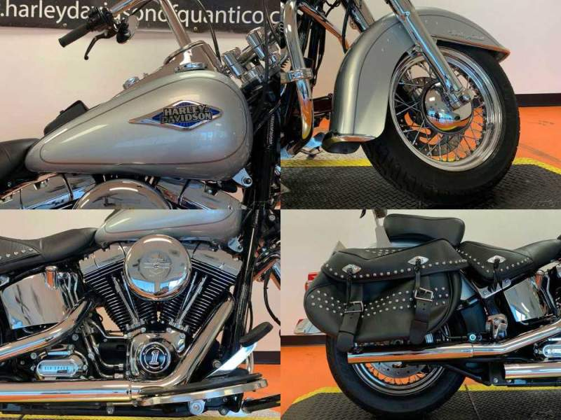 2015 Harley-Davidson Softail Heritage Classic Brilliant Silver Pearl used for sale