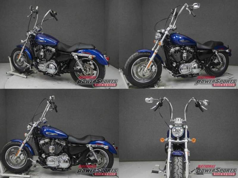 2015 Harley-Davidson Sportster XL1200C 1200 CUSTOM SUPERIOR BLUE used for sale near me