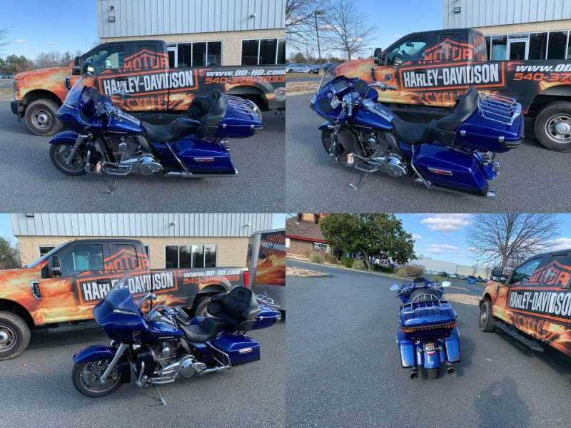2015 Harley-Davidson Touring CVO Road Glide Ultra Abyss Blue / Crushed Sapphire used for sale near me