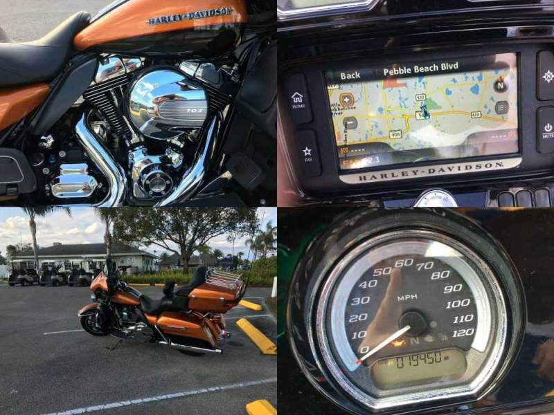 2015 Harley-Davidson Touring Amber Whiskey over Black used for sale