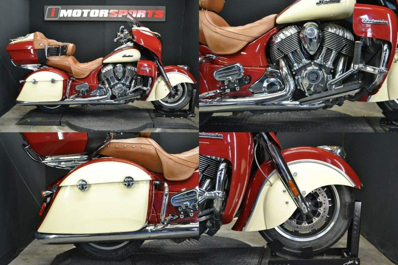 2015 Indian Roadmaster Indian Red/Ivory Cream Red used for sale near me
