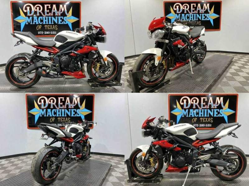 2015 Triumph Street Triple White used for sale