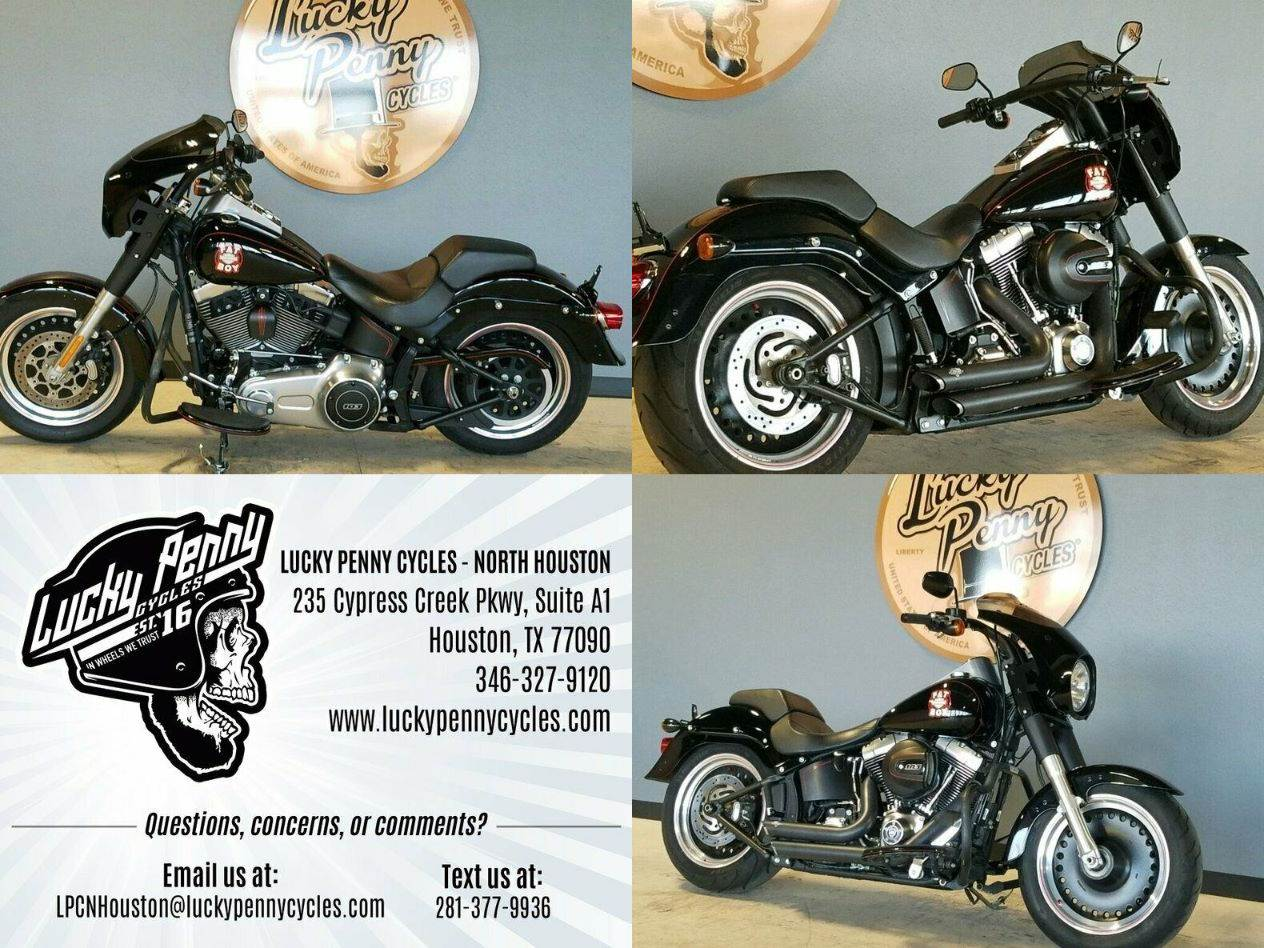 2016 Harley-Davidson Softail Fat Boy Lo Black used for sale near me