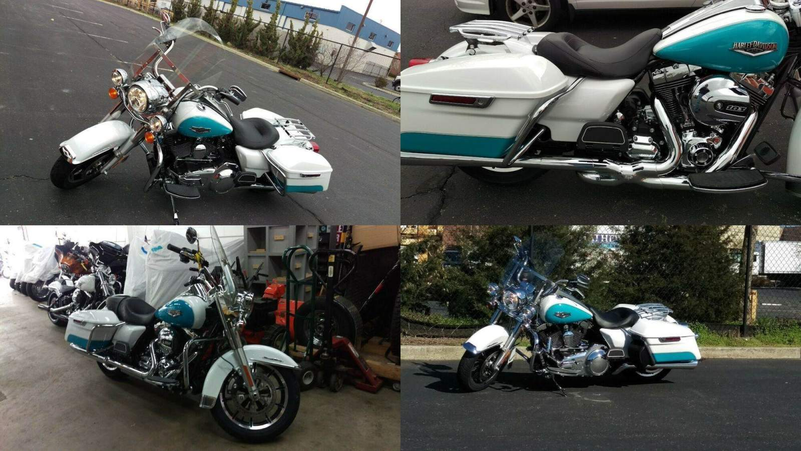 2016 Harley-Davidson Touring Crushed Ice Pearl / Frosted Teal used for sale craigslist