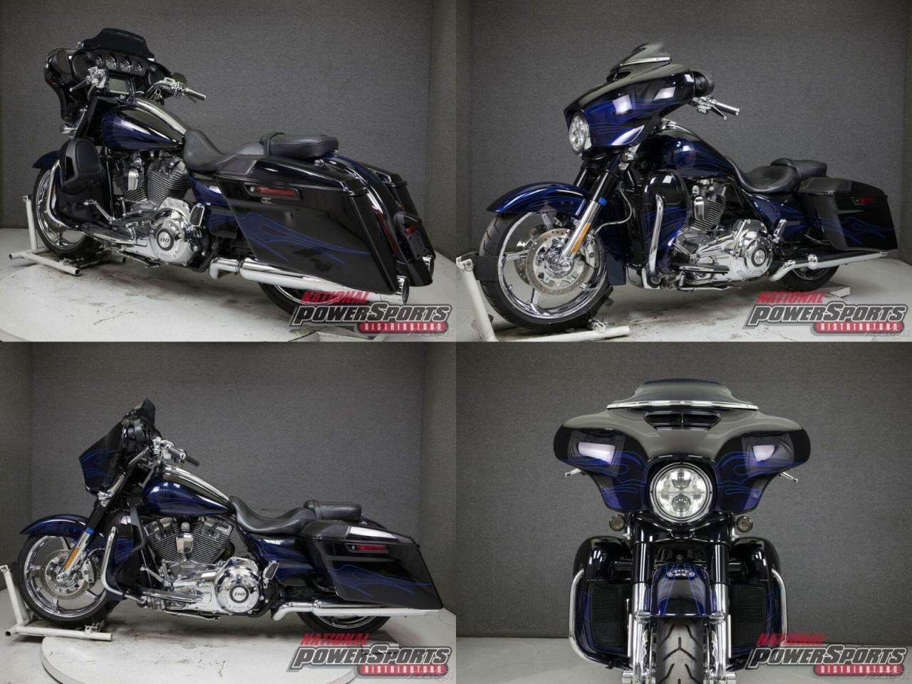 2016 Harley-Davidson Touring BLACK LICORICE/MIDNIGHT COBALT FLAMES used for sale