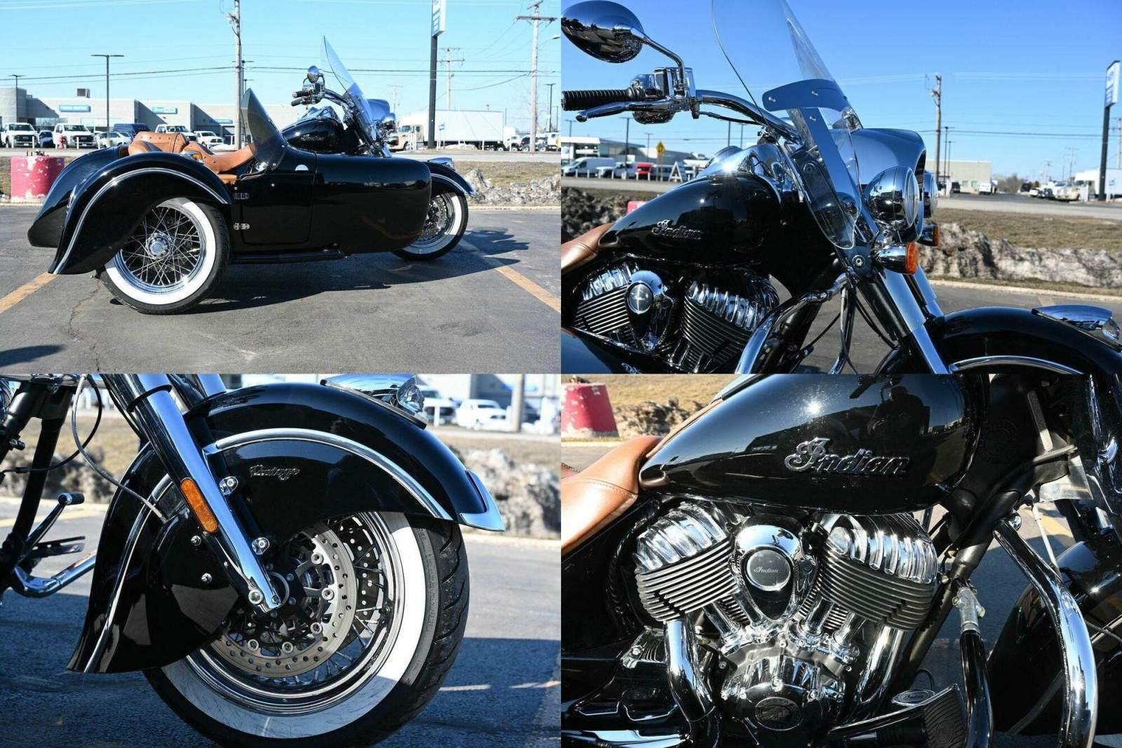 2016 Indian Chief Vintage Thunder Black -- used for sale