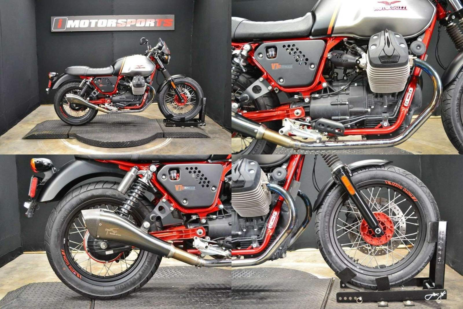 2016 Moto Guzzi V7 II Racer ABS BLK / GRY used for sale near me