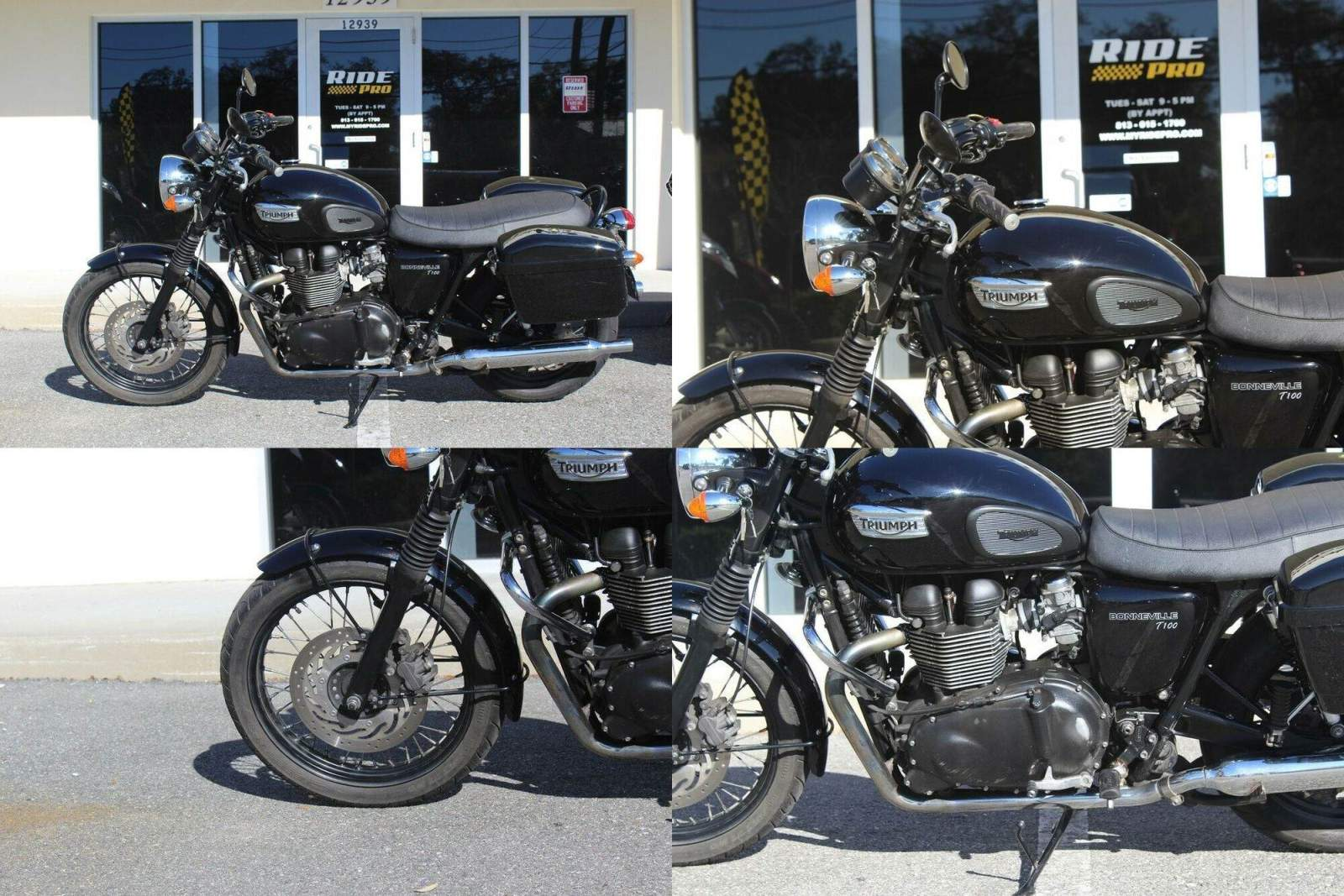 2016 Triumph Bonneville Black Black used for sale