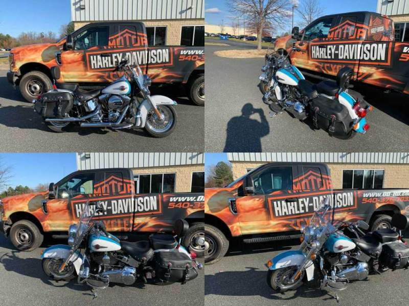2017 Harley-Davidson Softail Heritage Classic Crushed Ice Pearl / Frosted Teal Pearl used for sale craigslist