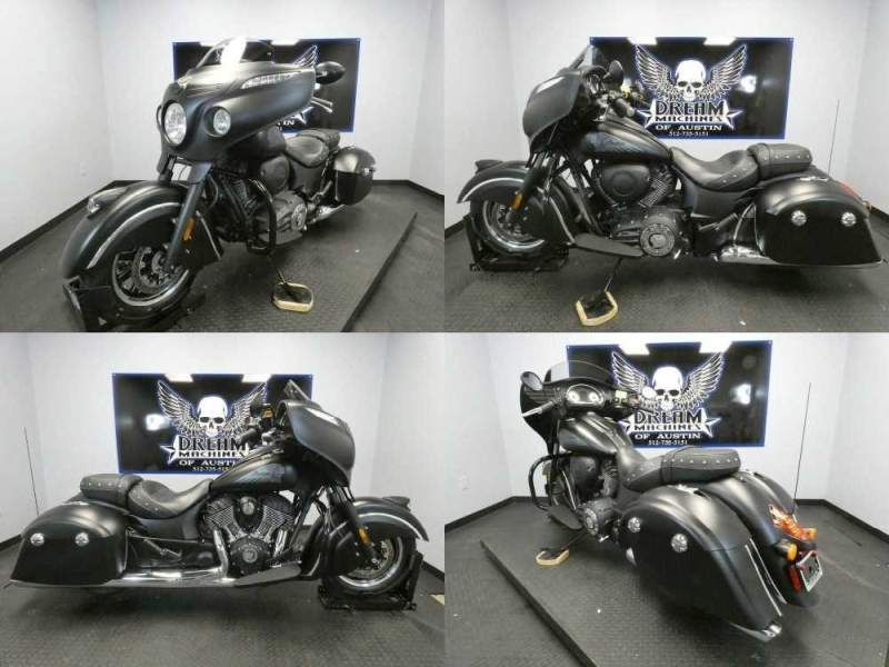 2017 Indian Chieftain Dark Horse Thunder Black Smoke Black used for sale craigslist