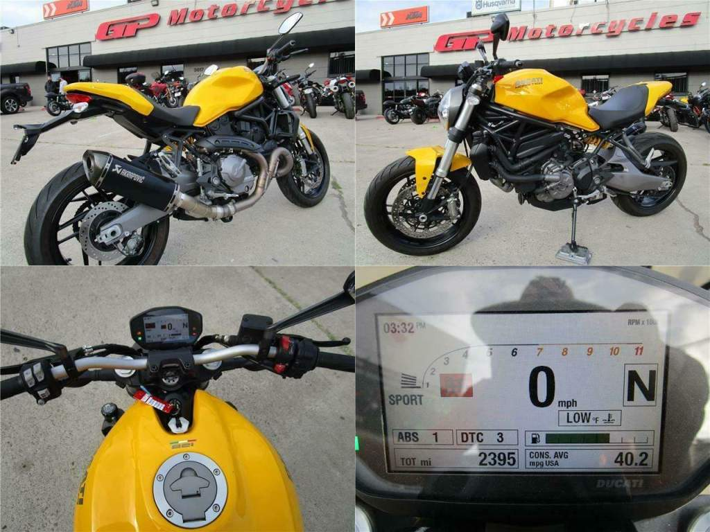 2018 Ducati Monster 821 Yellow used for sale